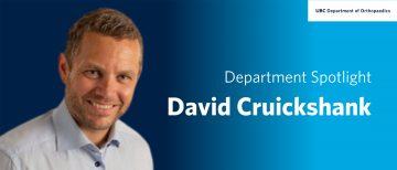 Faculty Spotlight – David Cruickshank