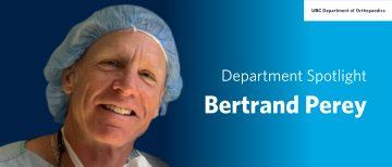 Faculty Spotlight – Bertrand Perey