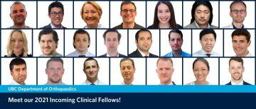 Meet our 2021 Incoming Clinical Fellows!