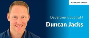 Faculty Spotlight – Duncan Jacks